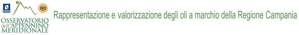 Rappresentazione e valorizzazione degli oli a marchio della Regione Campania